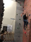 The wall climbing is getting harder now...
