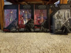 Star Wars Black Series Figures: Lando Calrissian in Skiff Guard Disguise, IG-88, Sabine Wren, Jawa