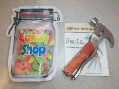 Bob Vila Signature Series BVMTH01 Workman's Multitool and Sour Gummy Worms