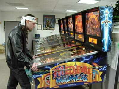Yours truly playing some pinball.